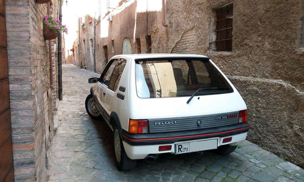 peugeot 205 gti 1600 auto epoca vado in classica